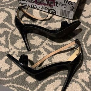 BRASH 7W Black Patent Heels